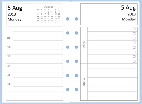 Diary Page Template by 9 Best Images Of Filofax Printable Pages Printable Diary