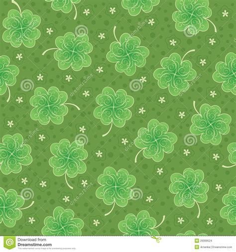 shamrock green green seamless background with shamrock stock vector
