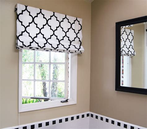 Black Patterned Roman Shades | contemporary cotton roman shades drapestyle com
