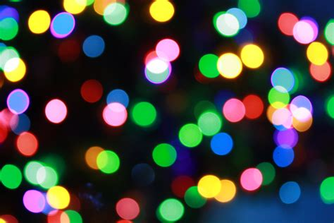 blurred christmas lights picture free photograph