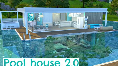 build pool house the sims 4 speed build pool house 2 0 youtube