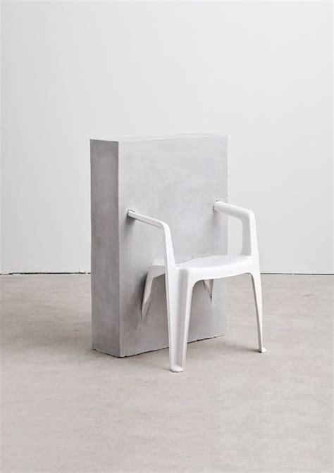Plastic Concrete Chairs by Half Concrete Chair Concrete Material