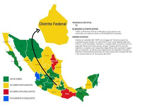 pago de tenecia ciudad de mexico 2016 pago de tenencias 2016 cu 225 les estados pagan y los que no