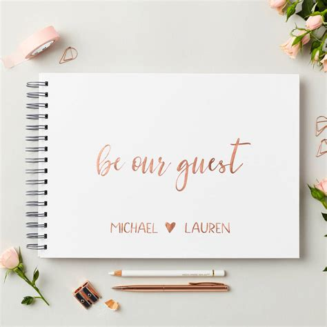 Wedding Guest Book Cover Page by Personalised Gold Wedding Guest Book By Martha Brook