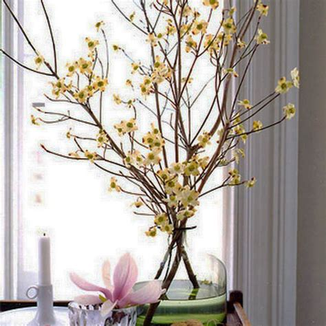 Flower Arrangements Home Decor 15 Floral Arrangements With Flowering Branches Home Decorating Ideas