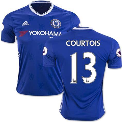 Chelsea 2016 17 Home Bnwt Original Jersey s thibaut courtois chelsea fc authentic jersey 16 17 premier league club adidas 13 soccer