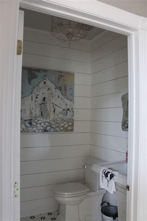 Faux shiplap bathroom saved by scottie