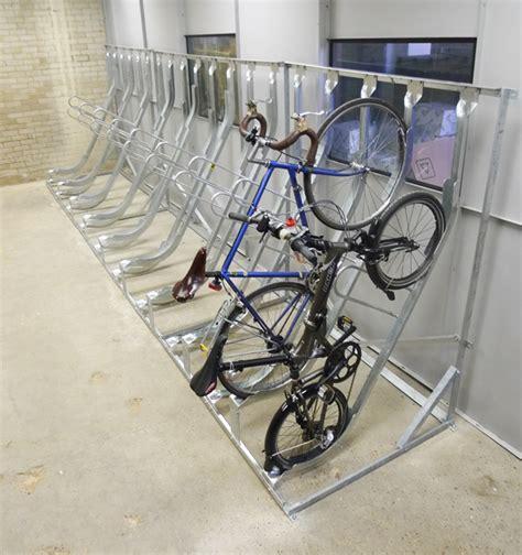 Buke Rack by Semi Vertical Bike Rack