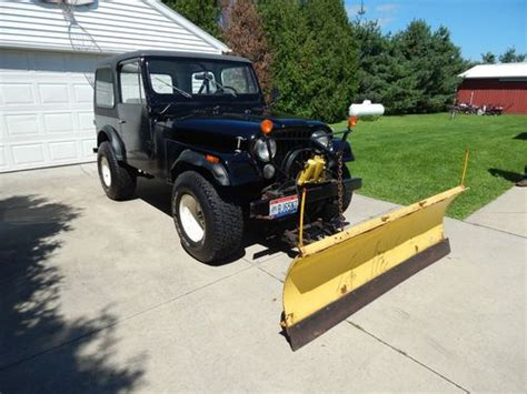 Jeep With Plow For Sale Purchase Used 1978 Jeep Cj7 With Fiberglass And Meyer