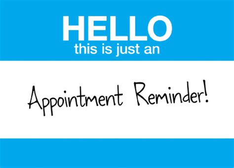 appointment reminder postcards pictures to pin on