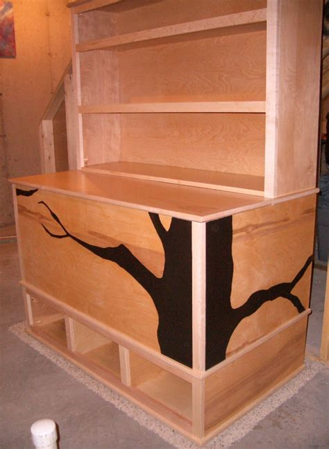woodworking plans box with cubbies and bookshelf