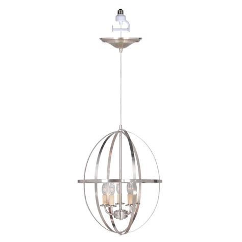 Pendant Light Conversion Worth Home Products Instant Pendant Series 4 Lights Brushed Nickel Mini Chandelier Recessed