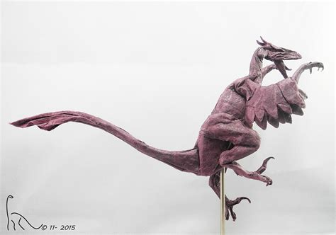 Origami Velociraptor - some of the best origami i ve seen in 65 million years