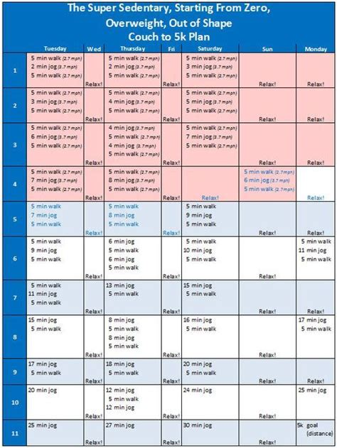 Sofa Schedule Printable 5k Schedule This New Schedule