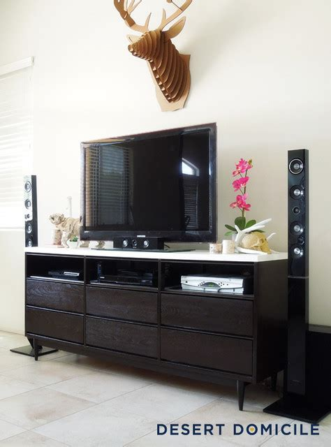 Living Room Dressers by Mid Century Modern Dresser Turned Entertainment Center