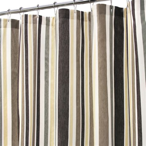 striped shower curtains brown and beige striped shower curtain curtain