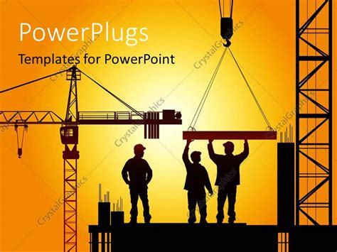 templates for powerpoint construction powerpoint template various construction worker during