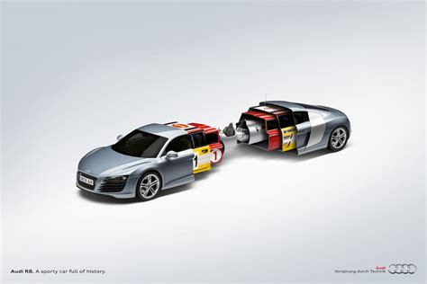 audi advertisement new audi r8 print ad quot a sporty car full of history