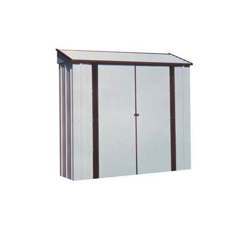 Metal Sheds Lowes by Shop Arrow Galvanized Steel Storage Shed Common 7 Ft X 2