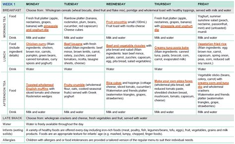 hospital design guidelines victoria sle two week menu for long day care healthy eating