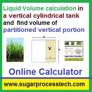 calculator volume calculator to find liquid volume for vertically mounted