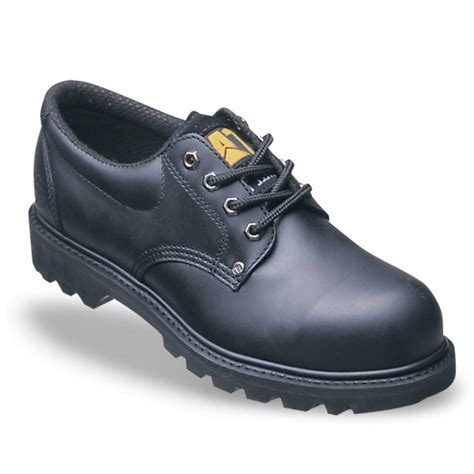 cat rig black lace up safety shoes code 7035 safety