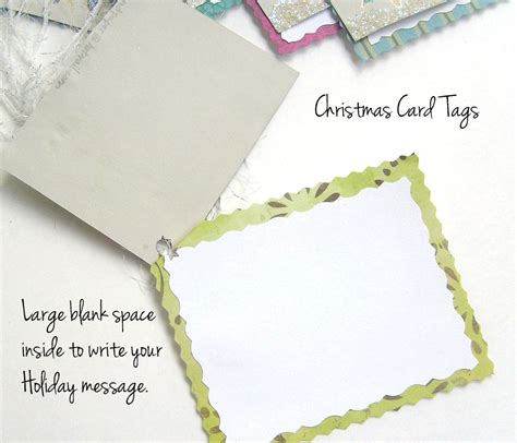 Gift Tag Greeting Card card gift tags 6 pc handmade card and tag in