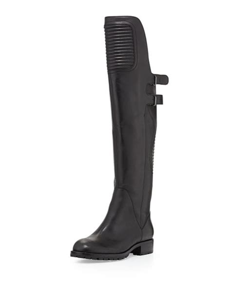 Chic The Knee Marc By Marc Boot by Marc By Marc Motorcycle The Knee Boot Black