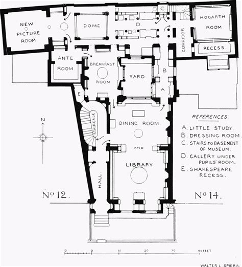 Online Floorplan Free plate 13 no 13 lincoln s inn fields sir john soane s