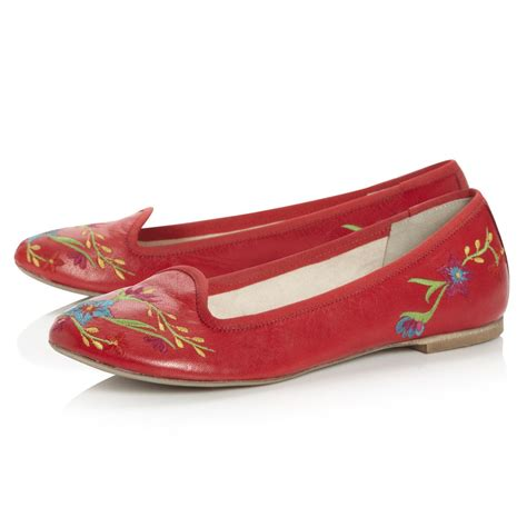 embroidered flat shoes dune lolapine womens floral embroidered