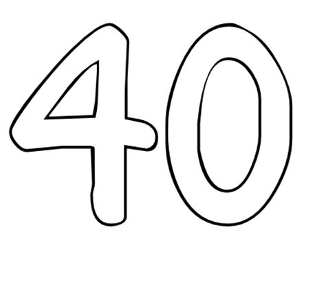 40 Coloring Page free coloring pages of number 40