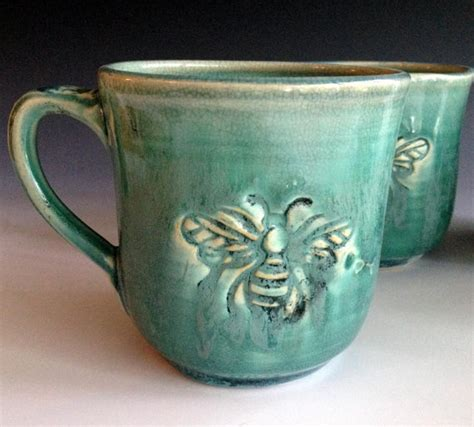 handmade mugs ready to ship bee mug stoneware mugs handmade mugs by leslie