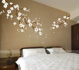 mural stickers for walls beautiful cherry blossom branches wall stickers home