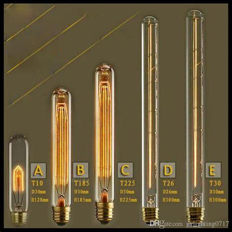 tubular edison light bulbs 2017 110 120v or 220 240v vintage test 40w e27