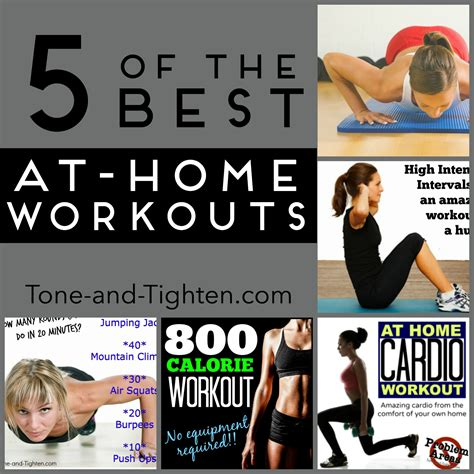 weekly workout plan 5 of the best at home workouts tone