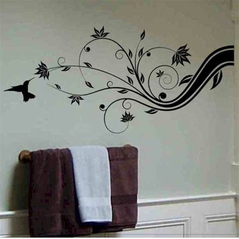 Hummingbird Home Decor Abstract Tree Branch Wall Decal With Hummingbird Home Wall Decor