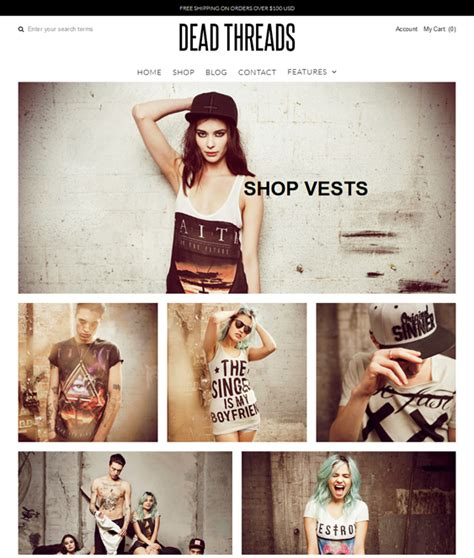 shopify themes vantage 28 of the best shopify themes for clothing stores down