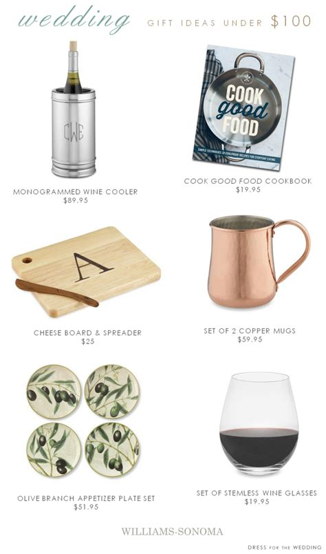 Can You Use Williams Sonoma Gift Card At Pottery Barn - wedding registry gifts under 100 win a 5 000 gift card from williams sonoma