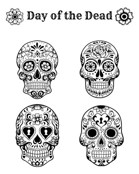 halloween coloring pages day of the dead 116 best images about day of the dead ideas on pinterest