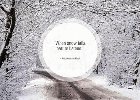 snow winter quotes quotesgram