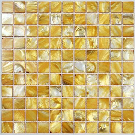 gold backsplash tile sea shell mosaic of pearl tile kitchen