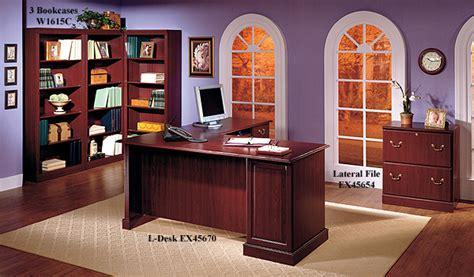 bush saratoga l desk bush saratoga executive collection l desk harvest cherry