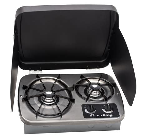 cooktop covers king ysnht600 lp gas drop in 2 burner rv cooktop