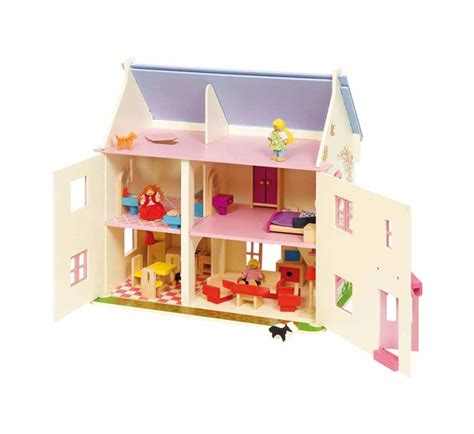 rose cottage dolls house bigjigs rose cottage dolls house furniture and family