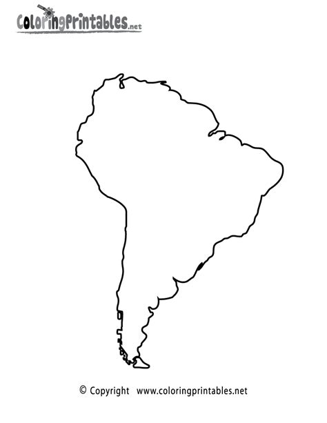 printable maps of south america map of south america coloring pages