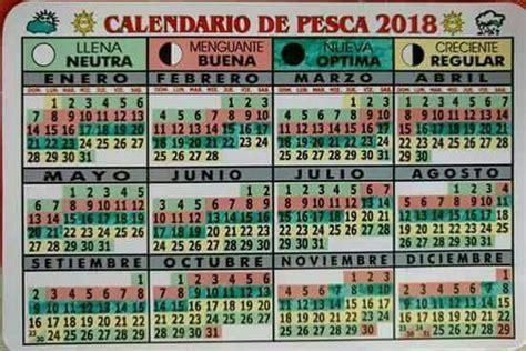 calendario lunar de pesca 2016 pescador deportivo calendario lunar de pesca 2018 pescador deportivo