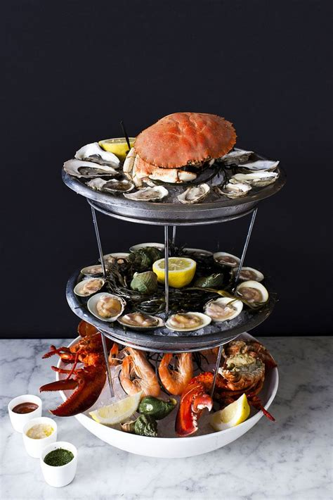 the chef in my oyster the dory oyster bar seafood tower chef barry at