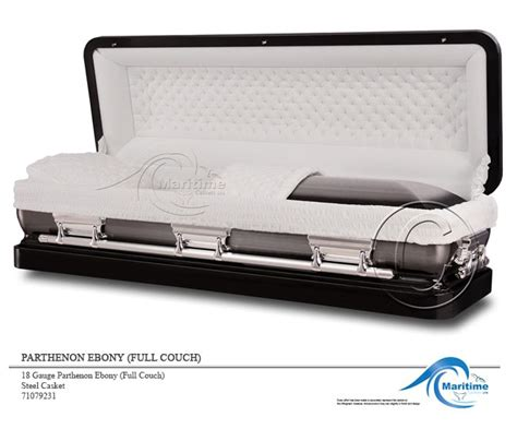 couch casket 18 gauge parthenon ebony full couch maritime caskets