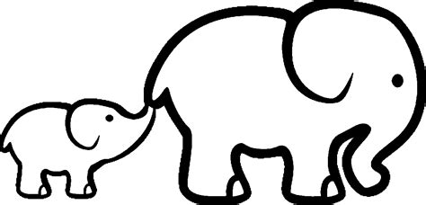 coloring page elephant coloring outline coloring pages
