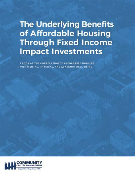 fixed income housing community capital management manages impact investing portfolios